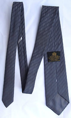Toye Kenning Spencer mens business tie in dignified grey Hand washable polyester